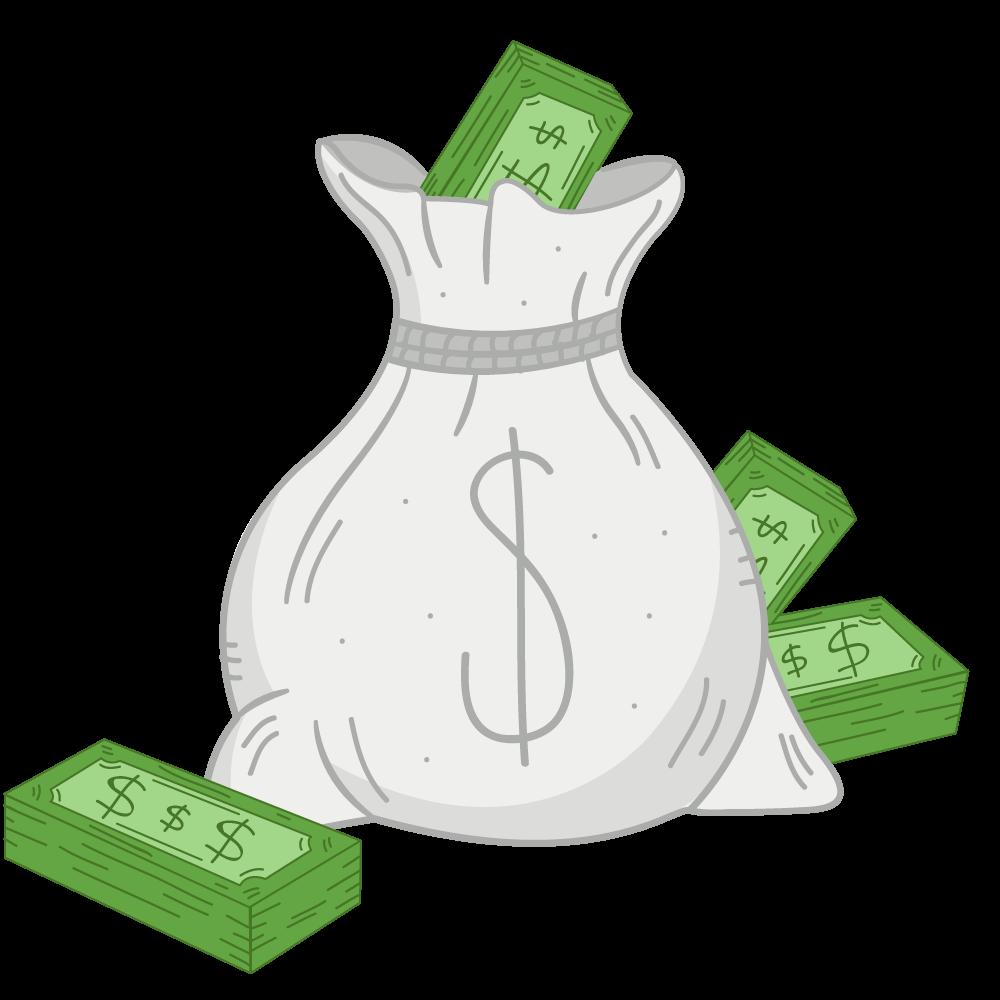 мешок с деньгами рисунок симптомы аллергии можно
